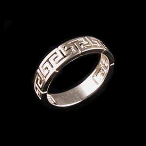 Sterling Silver Cutout Ring